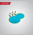 isolated lake flat icon pond element can vector image