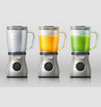 juicer kitchen blender with orange and apple vector image