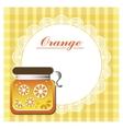 label for orange jam vector image