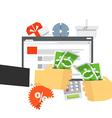 Modern digital shop concept Flat design vector image vector image