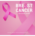 National Breast cancer awareness month background vector image