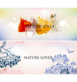 nature abstract backgrounds set sky trees vector image vector image