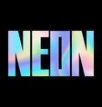 neon holographic modern abstract t-shirt fashion vector image vector image