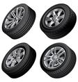 Passenger cars wheels bundle vector image vector image