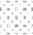 passport icons pattern seamless white background vector image vector image
