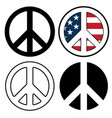 peace sign symbols vector image vector image