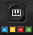 piano key icon symbol Set of five colorful stylish vector image vector image