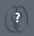 Pictograph of question mark vector image vector image