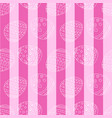 pink seamless pattern with easter eggs and stripes vector image