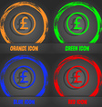 Pound sterling icon sign Fashionable modern style vector image