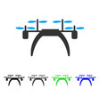 quadcopter flat icon vector image vector image
