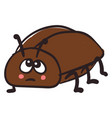 sad beetle on white background vector image vector image