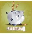 Save money cash pig vector image