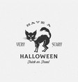 scary halloween label emblem or card vector image vector image