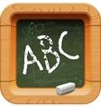 School blackboard icon vector image