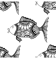 Seamless background of abstract fish vector image vector image