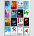 Set flyer design infographics brochure designs