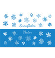 snowflakes hand drawn icons set isolated vector image