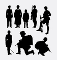 soldier army and police silhouette 4