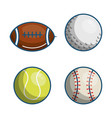 sports related design vector image vector image