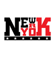 T shirt typography stars New York red vector image vector image