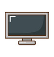 television screen isolated icon vector image vector image
