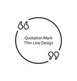 thin line quotation mark vector image