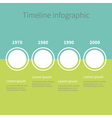 Timeline Infographic Four step template Blue and vector image vector image