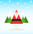 Triangular santa claus christmas celebration vector image vector image