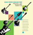 Unusual guitar art vector image vector image