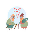 valentines day old couple married couple love vector image