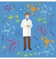 Viruses infected organism bacterial epidemic vector image