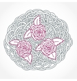 Floral Rose Round Composition vector image
