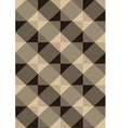 Striped brown rhombuses on light seamless backgrou vector image