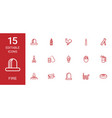 15 fire icons vector image vector image