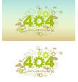 404 website banner design concept vector image vector image