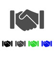 agreement handshake flat icon vector image vector image