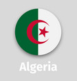 algeria flag round icon vector image