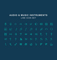 audio and instrument music line icon set vector image