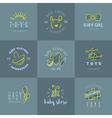 Baby logos set vector image vector image