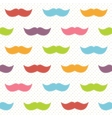 Background with colorful mustaches vector image vector image