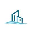 building wave logo vector image vector image
