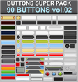 buttons super pack 2 vector image vector image