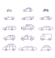 Car types outline icons set vector image vector image