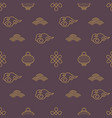 chinese seamless patterns dark asian background vector image vector image