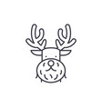 Christmas deer line icon concept christmas deer