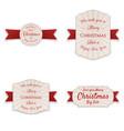christmas realistic banners set vector image vector image