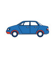 city car sedan automobile transport motor side vector image vector image