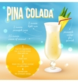 Cocktail Recipe Poster vector image
