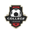 college league soccer logo vector image vector image